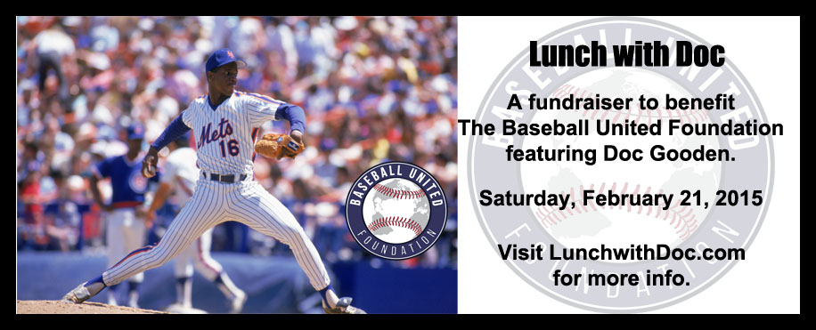 Baseball United Foundation Teams Up with Doc Gooden For Fundraising Luncheon