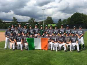 Irish Junior National Baseball Team 2017 Team Photo